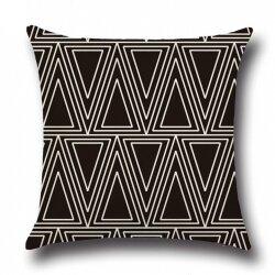 Подушка декоративная Triangle Black 45 х 45 см