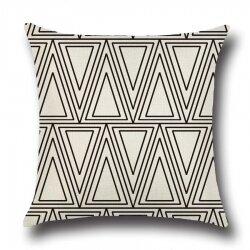 Подушка декоративная Triangles White 45 х 45 см