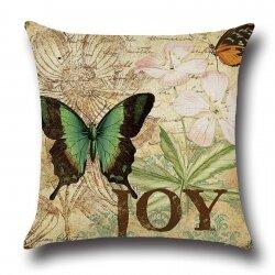 Подушка декоративная Butterfly Green 45 х 45 см
