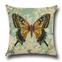 Подушка декоративная Butterfly Yellow 45 х 45 см