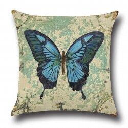 Подушка декоративная Butterfly Blue 45 х 45 см