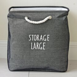 Корзина для игрушек Storage dark gray big
