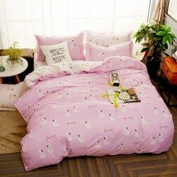 Комплект постельного белья Flamingos Floating (двуспальный-евро)