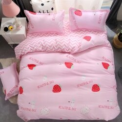 Комплект постельного белья Strawberry (двуспальный-евро)