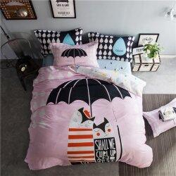 Комплект постельного белья Couple under the Umbrella (двуспальный-евро)